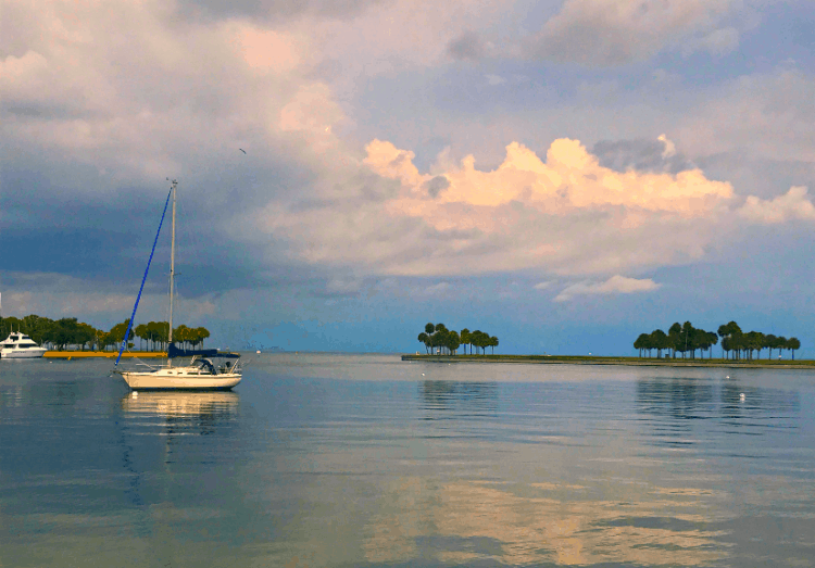 Sailboat St Petersburg Inlet