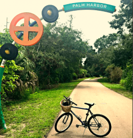 Pinellas Trail leading into Palm Harbor