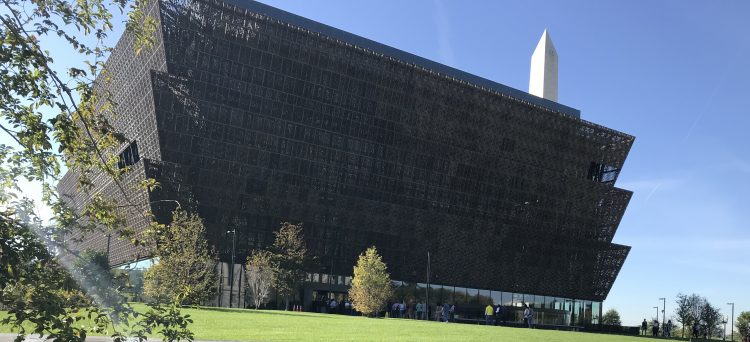 Outside of NMAAHC, Black History Museum in Washington DC