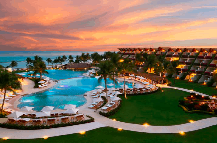 Air view of Grand Velas Riviera Maya