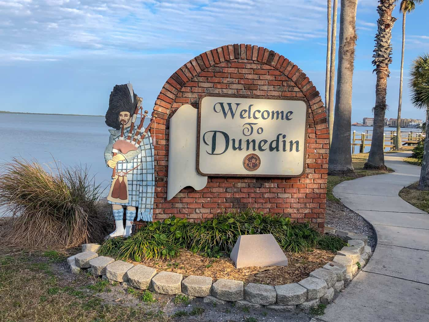 Sign at entrance to Dunedin, FL