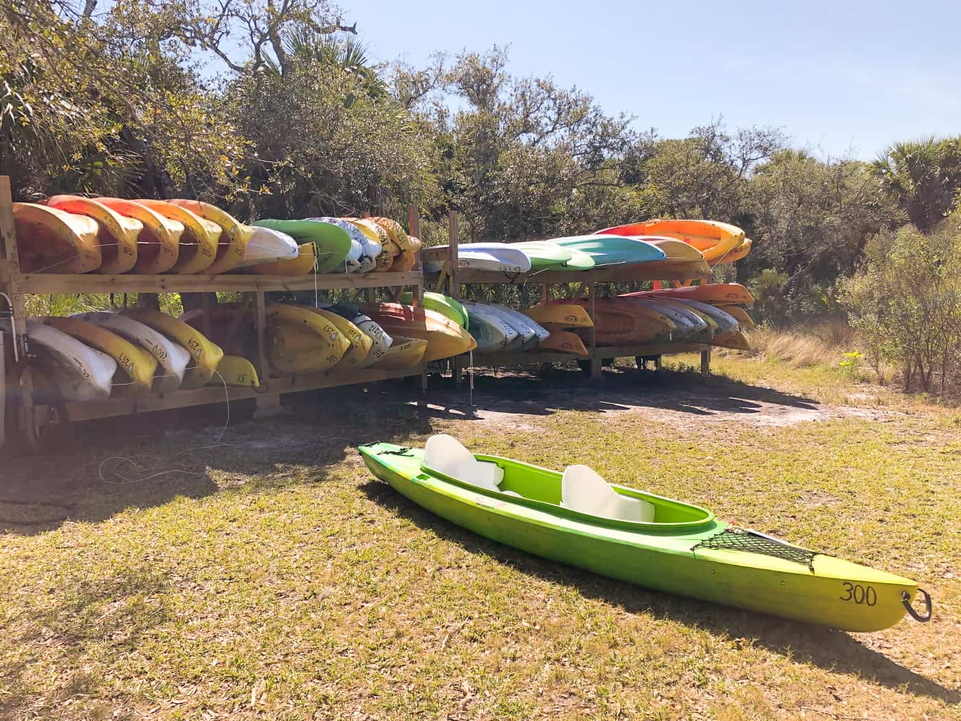 Kayaks are available for rental at Werner-Boyce Salt Springs State Park in Port Richey, FL #Florida #FL #FLStateParks #CornacopiaInThePark #LoveFL