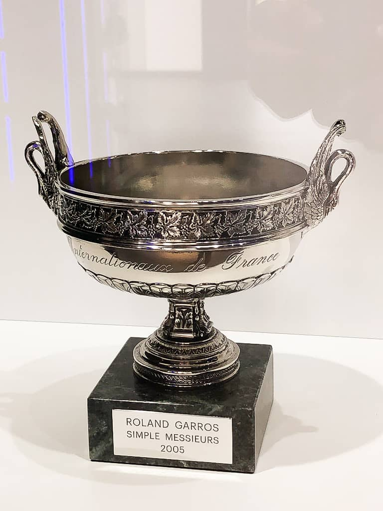 Rafa Nadal's 2005 trophy from the French Open