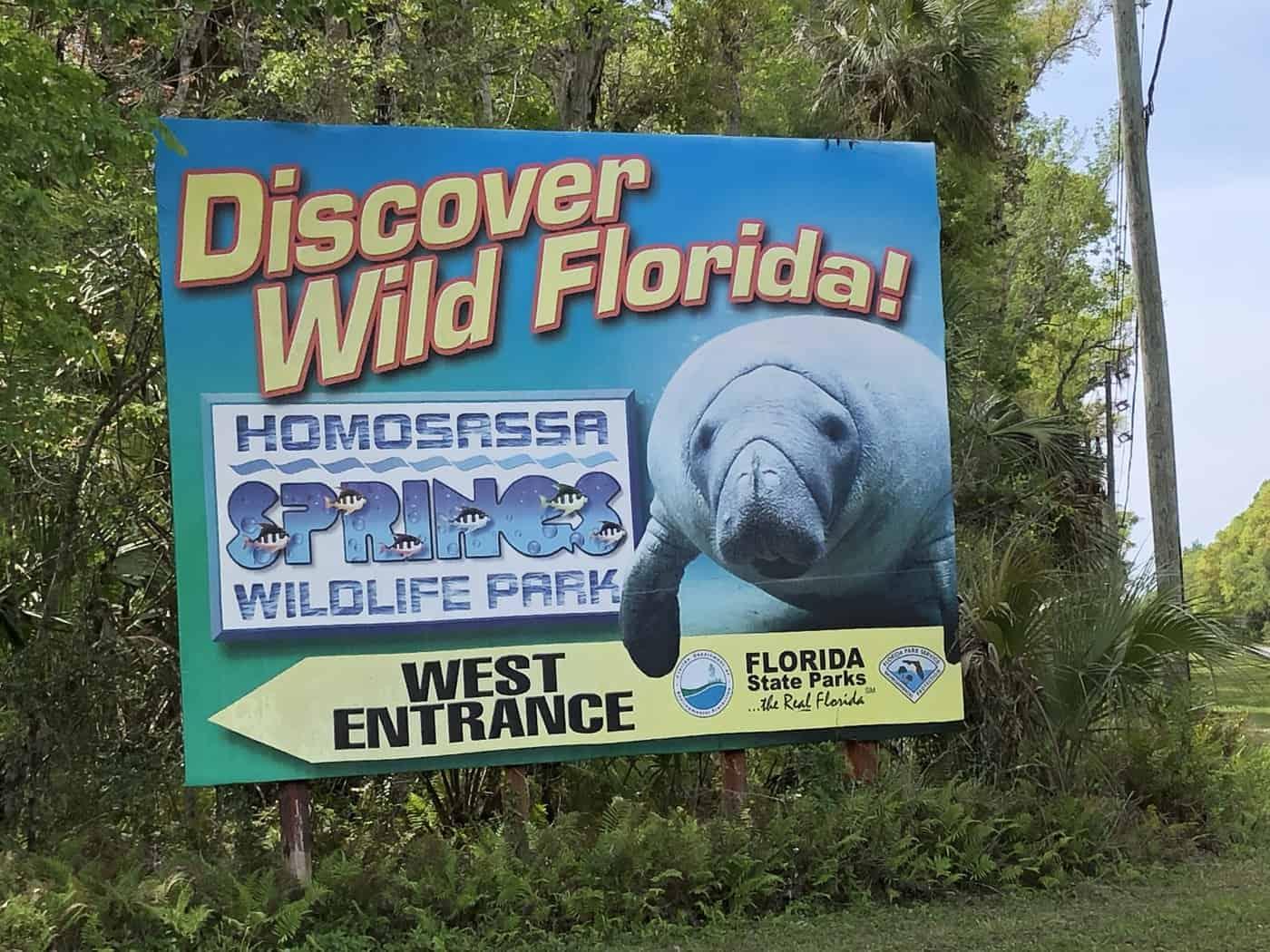 Discover Wild Florida sign