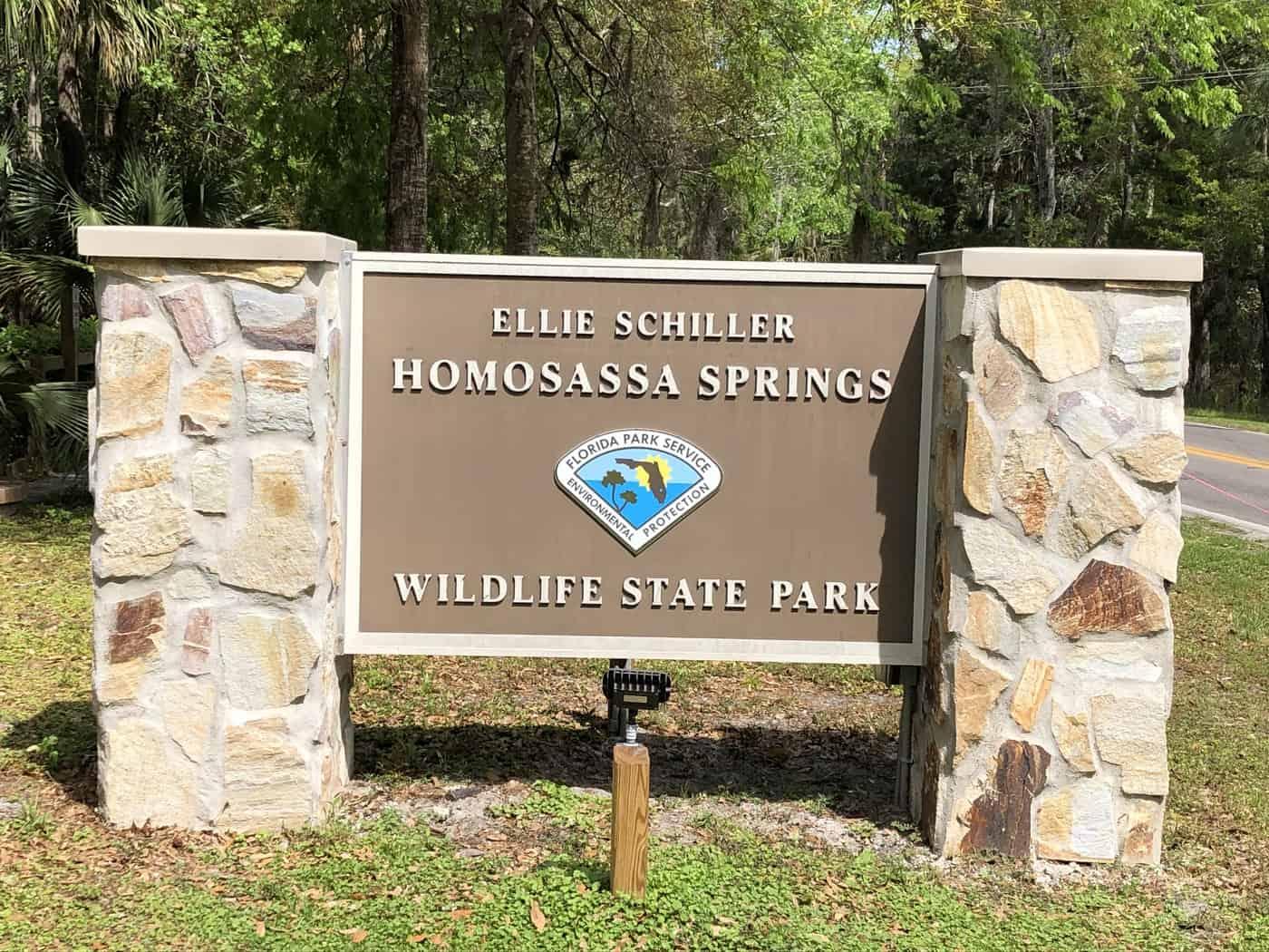 Main sign - Homosassa Springs