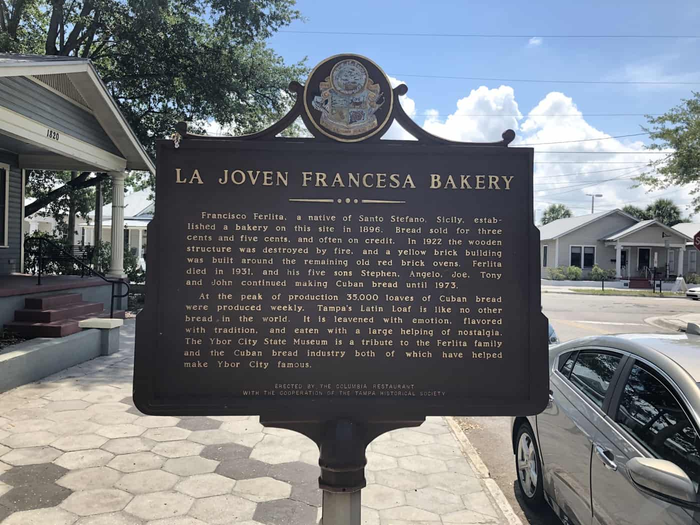 Historical Sign for bakery in Ybor