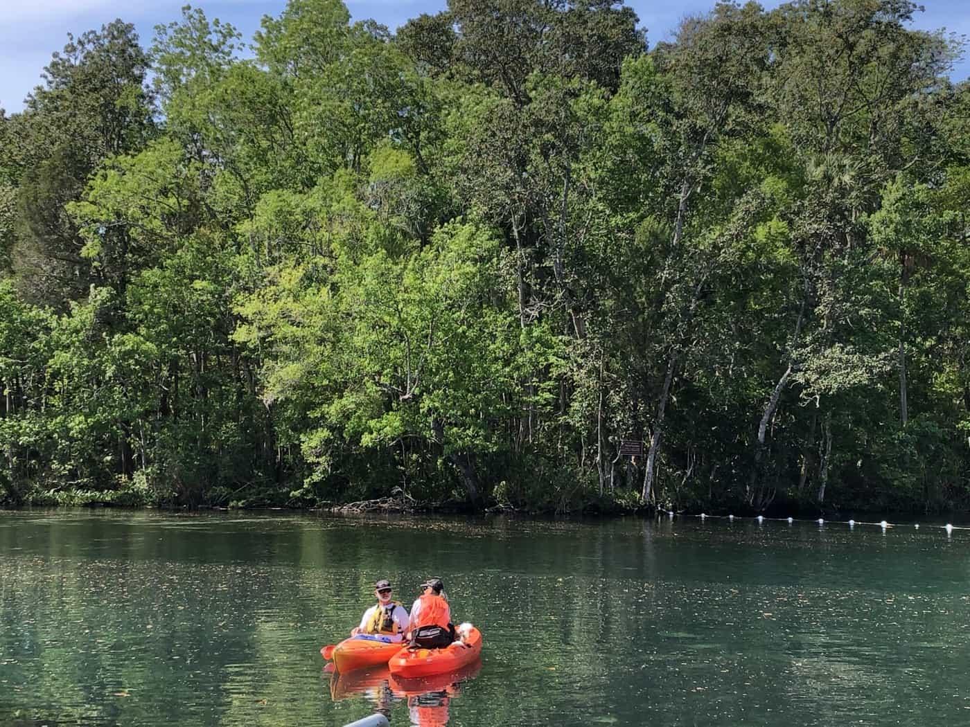 Kayaks on the water, Homosassa Springs