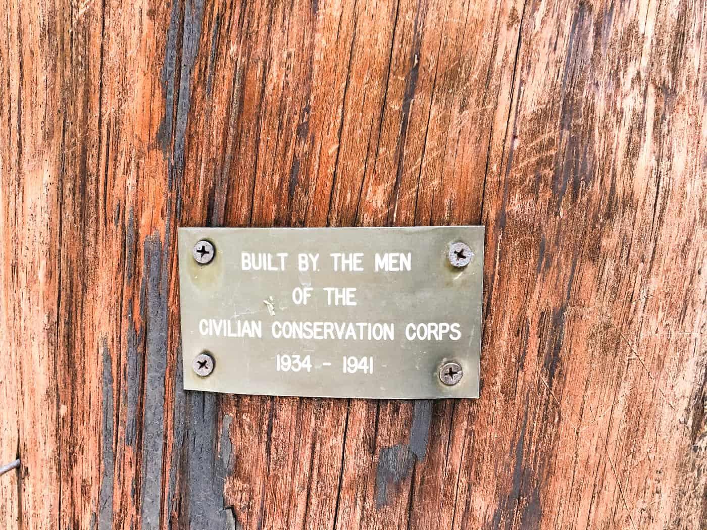 Plaque at suspension bridge