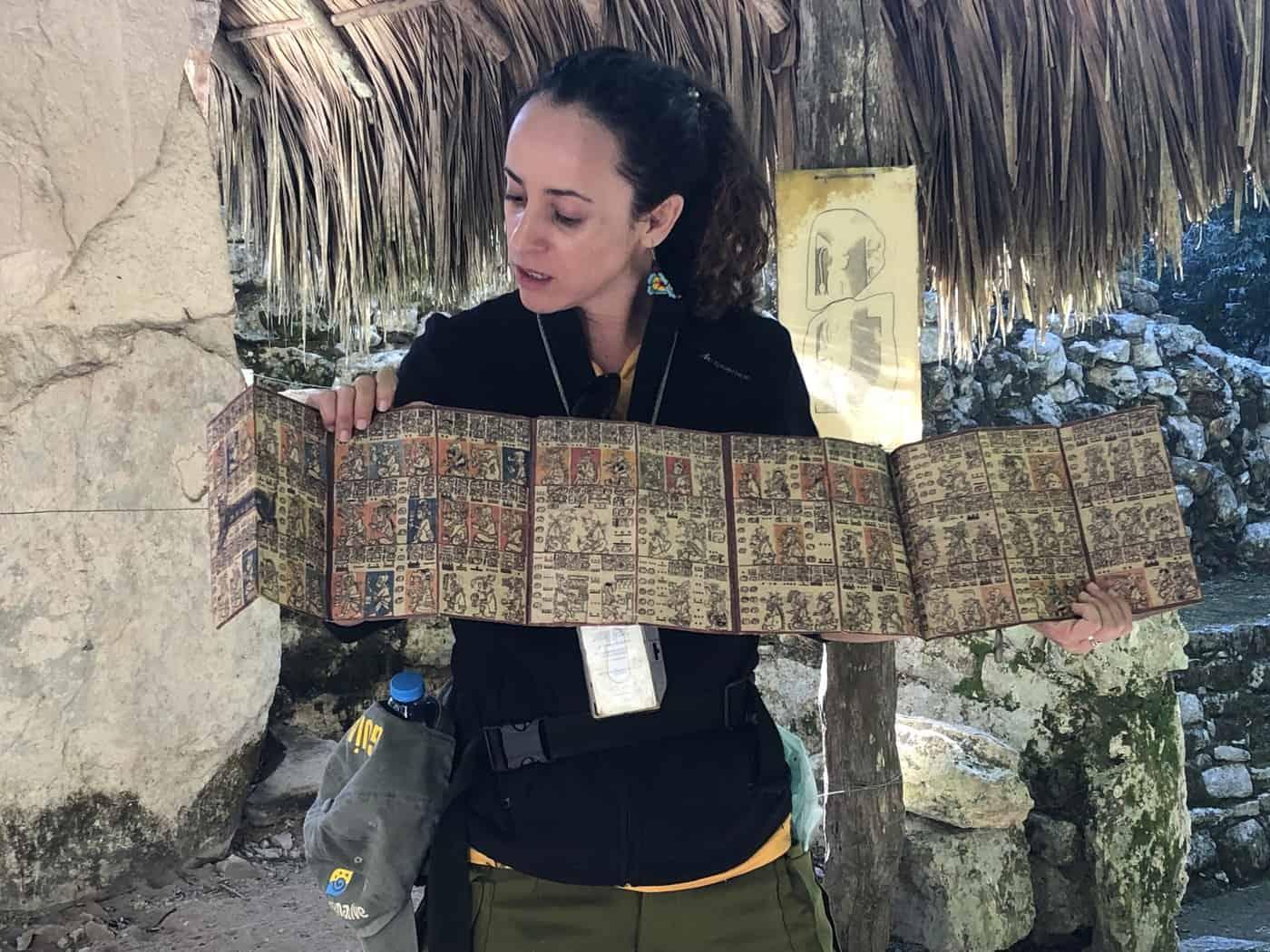 Reading a Mayan map