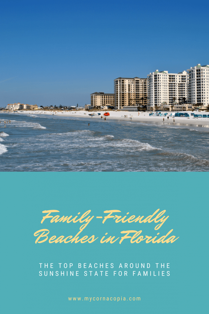 family-friendly beaches Pinterest image