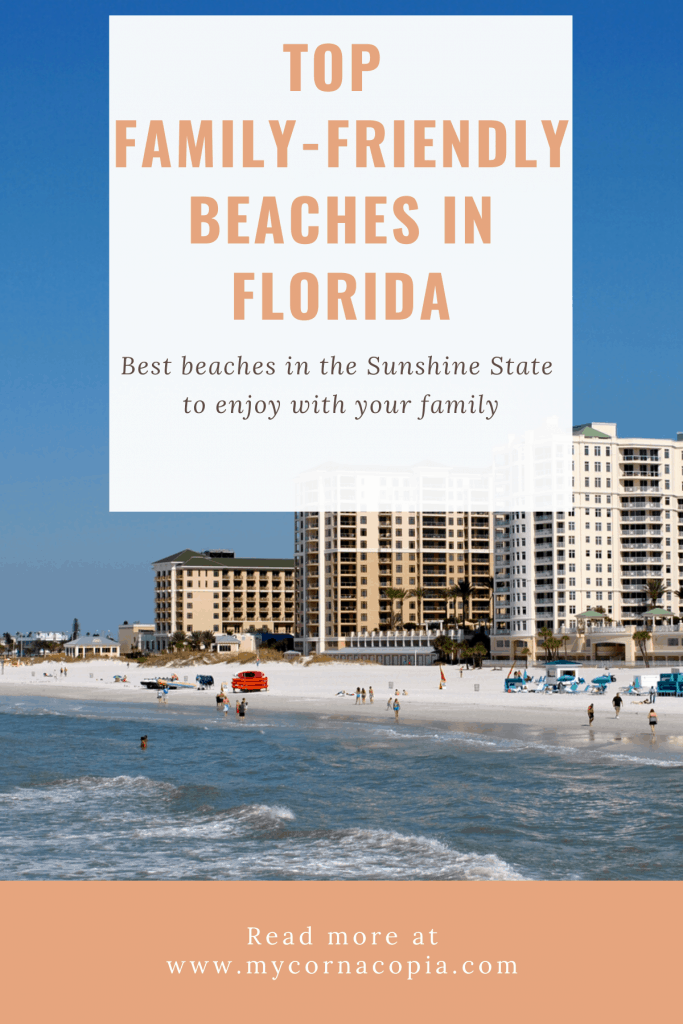 Pinterest image of family-friendly beaches in Florida