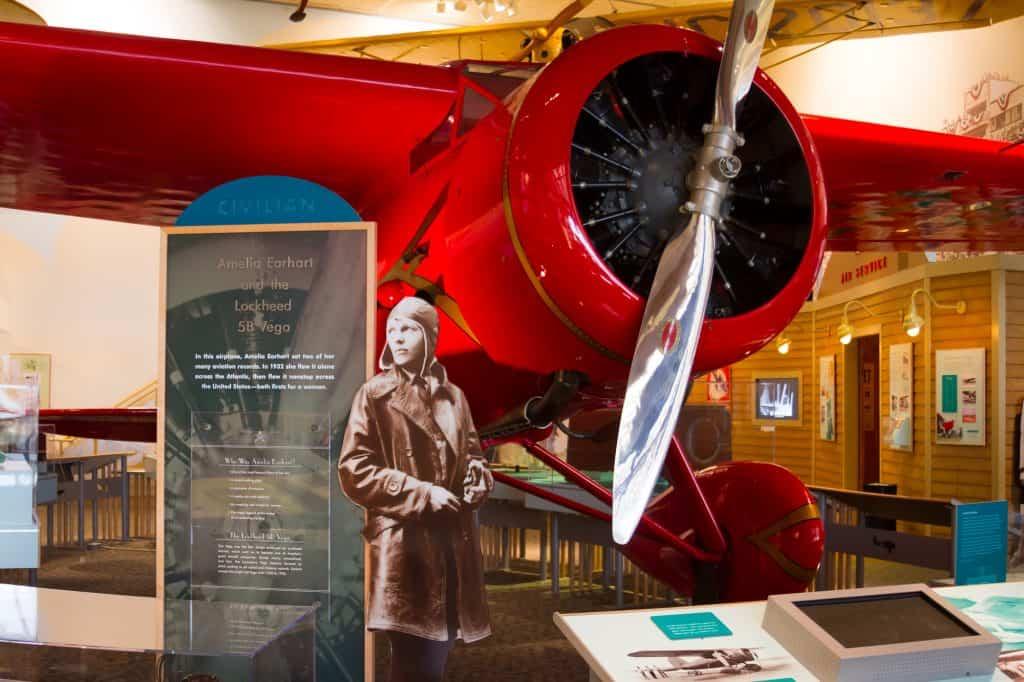 Amelia Earhart display at one of Washington D.C. Smithsonian Museums